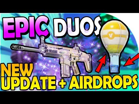 NEW UPDATE - NEW DUOS + AIRDROPS / SUPPLY DROPS - EPIC DUO GAME! - Fortnite Battle Royale Gameplay