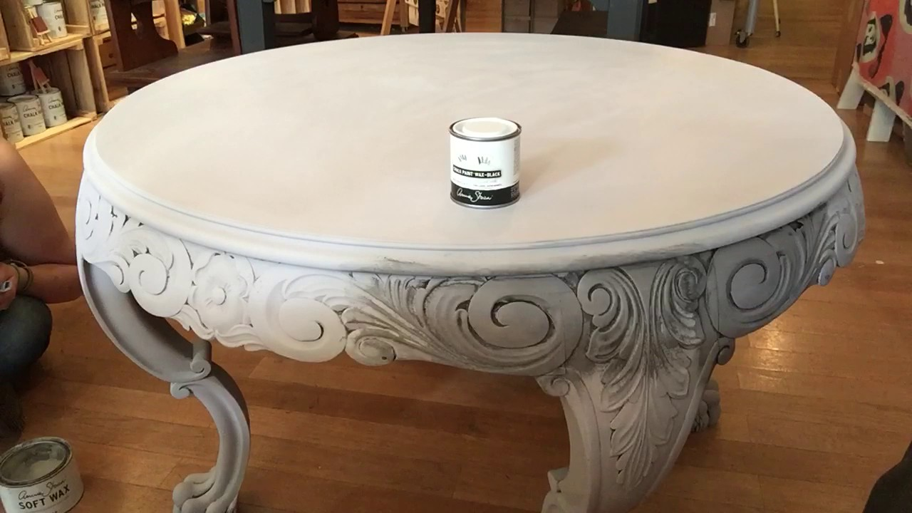 Visual Demo   How To Brush On Annie Sloan Black Wax Directly To Chalk Paint®