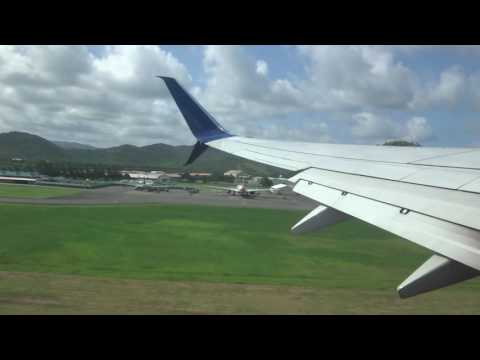 Delta Airlines Boeing 737-900ER takeoff from St Lucia. (UVF)