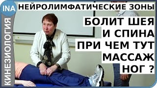 Болит шея. Боль в спине. Помог - массаж ног. Прикладная кинезиология. Проф. Васильева