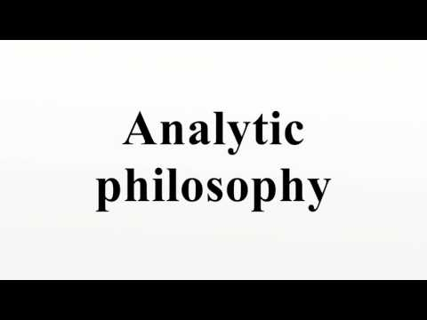 Analytic philosophy