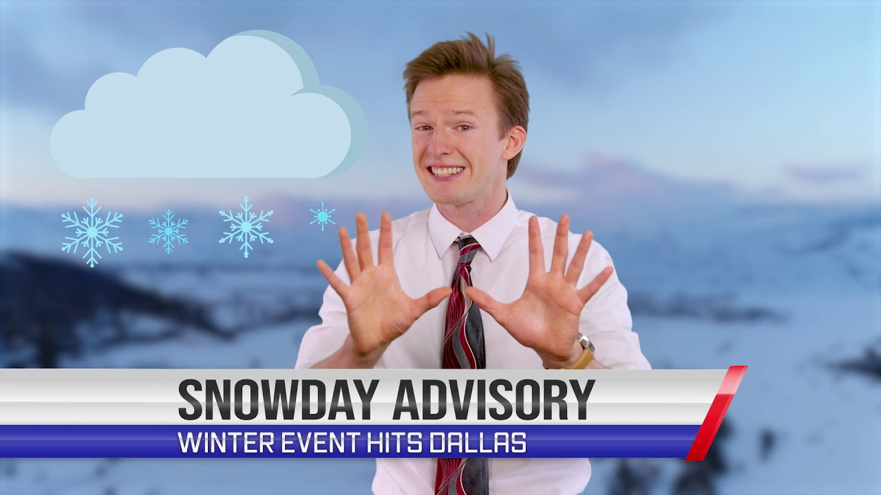 Breaking Dallas Winter Weather Alert! | SNOWDAY Coming To Town