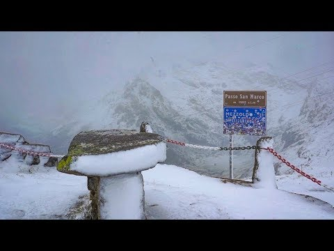 Alpi Orobie, bufere di neve al Passo San Marco