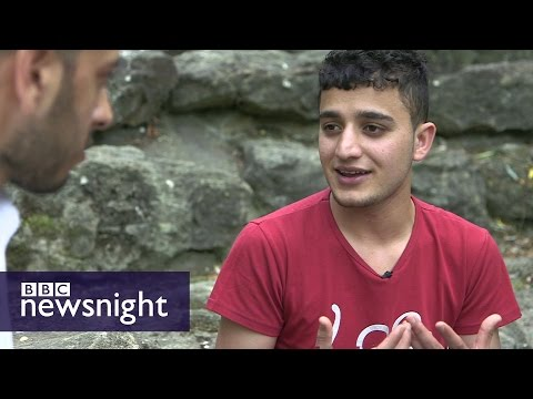 What's it like to be a child refugee in the UK? Newsnight