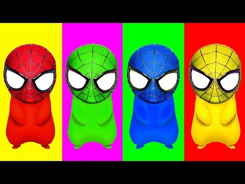 Thumbnail: Spiderman Pikachu Balloons Blasting Finger Family Colors Learn