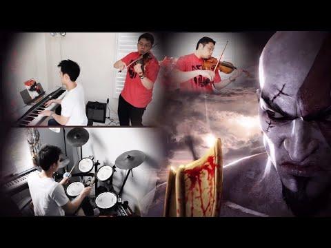 GOD OF WAR 3 - Main Menu Theme (Violin/Piano/Drums Cover) ft. HarbingerDOOM