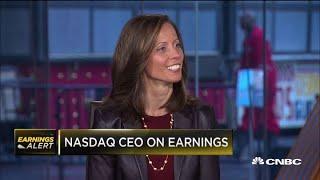 Nasdaq CEO Adena Friedman on quarterly earnings
