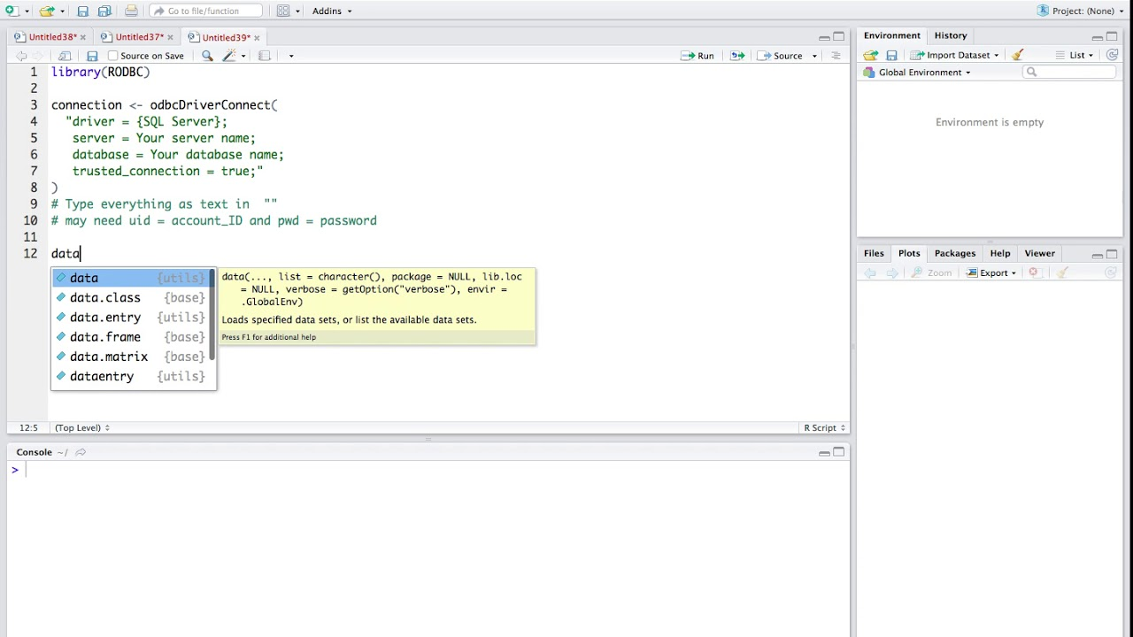R Tutorial 24: Write/Append Data from R to SQL Server Using library(RODBC)