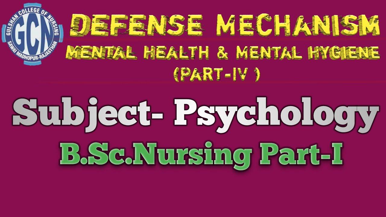 Defense Mechanism Ii Mental Health Mental Hygiene Part Iv