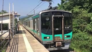 JR小浜線 西敦賀駅の125系 JR Obama Line Nishi-Tsuruga Station (2017.5)