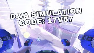 [Overwatch Workshop] D.va simulation to train eating gravitons!