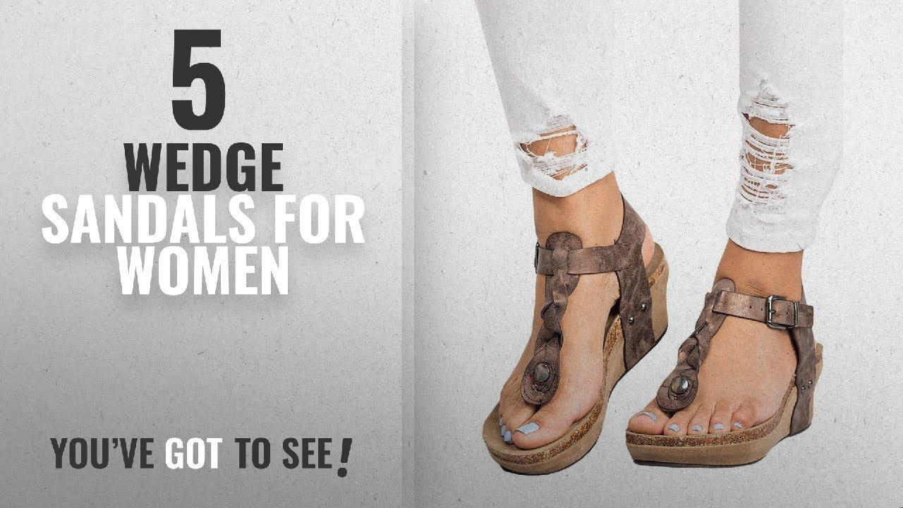9ff77e670c0a Top 5 Wedge Sandals For Women  2018   Pxmoda Women s Boho Braided ...