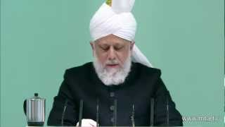 English Friday Sermon 9th March 2012 - Islam Ahmadiyya