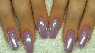 MADAM GLAM Gel Polish application with Glitter Heaven WHITE MAGIC