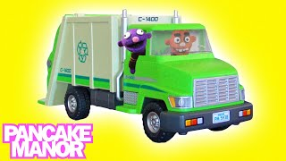 RECYCLING TRUCK SONG for Kids ♫ | Garbage Trucks for Children | Pancake Manor