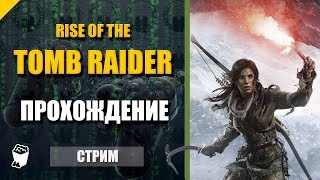 Rise of the Tomb Raider. Стрим прохождение №1. Храм Пророка. Едем в Сибирь. Битва с медведем.