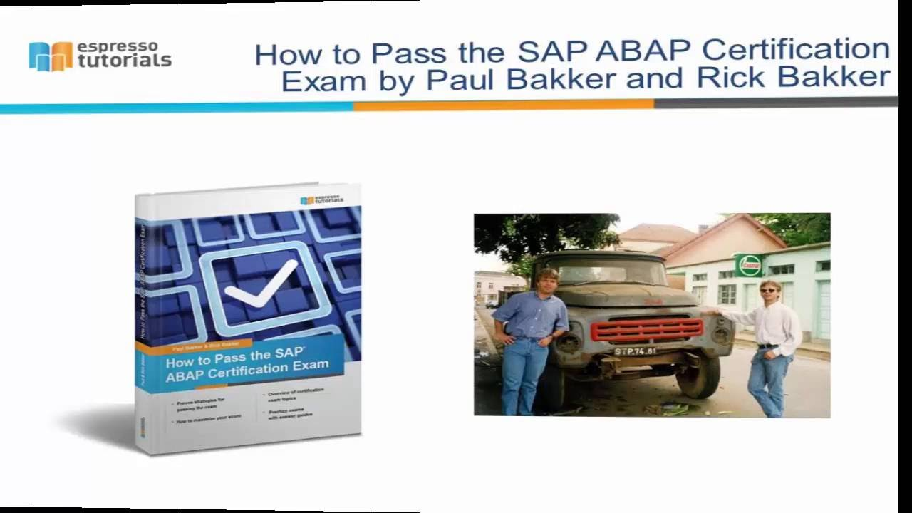 How To Pass The Sap Abap Certification Exam Youtube