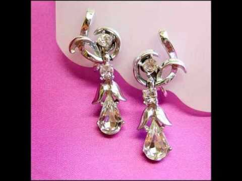 Art Deco Earrings,Rhinestone Crystal Vintage Chandelier Earrings http://www.greatvintagejewelry.com
