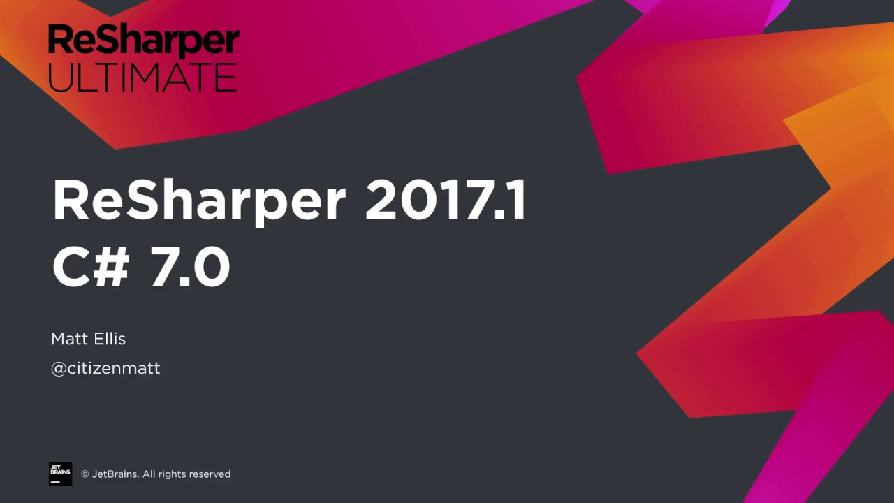 What S New In Resharper Ultimate 2017 1 C 7 Support Youtube