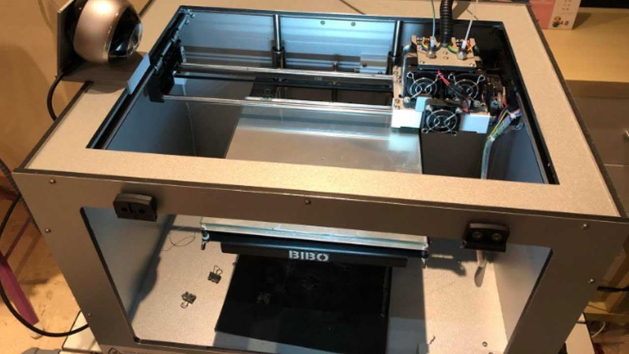 video BIBO Dual Extruder 3D Printer