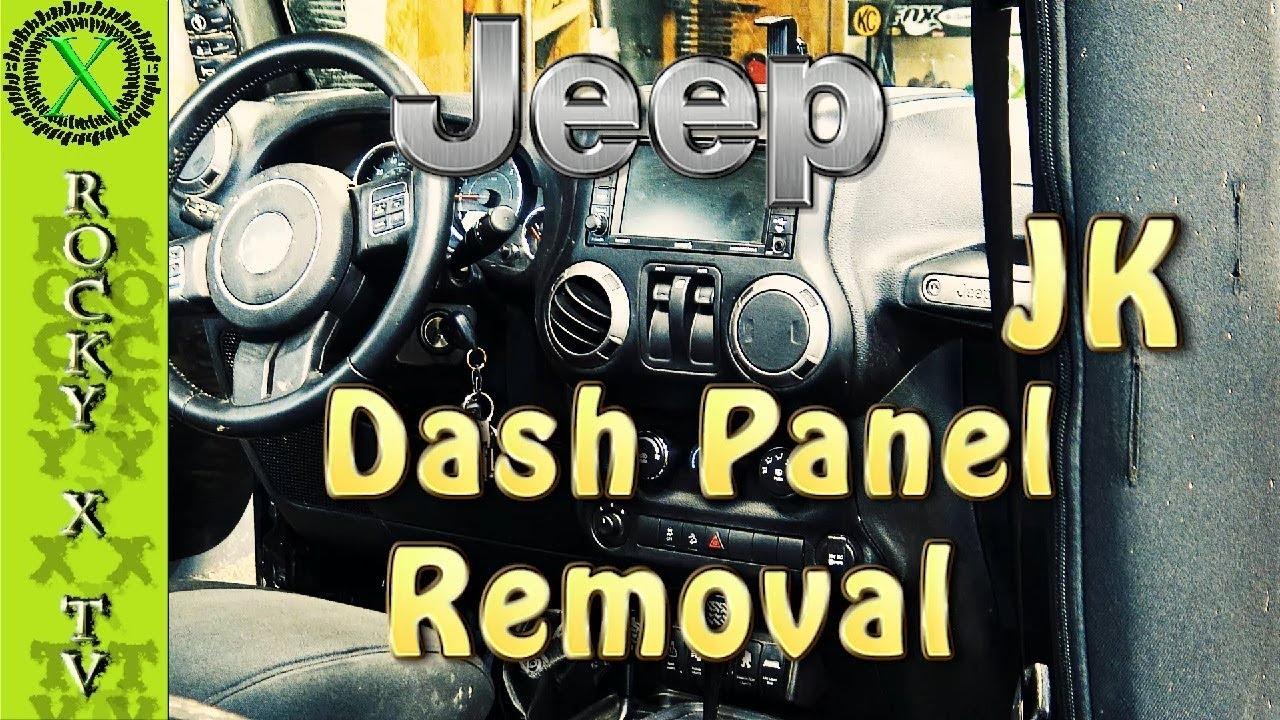 Jeep Wrangler Jk >> How To Remove Jeep Wrangler JK Dash Panel/Bezel - YouTube