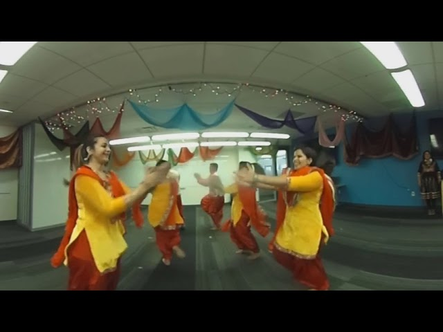 Bhangra performance at AWS