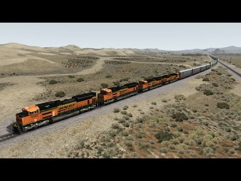 TS2015 HD: BNSF EMD SD70ACe Locos Power 84 Car Intermodal Double Stack Freight Train