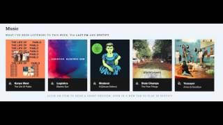 Spotify & Last.fm widget with energy-sensitive animations