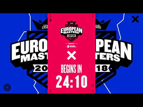 [🔴] European Masters Spring Split Knockout 2018 - Round of 12