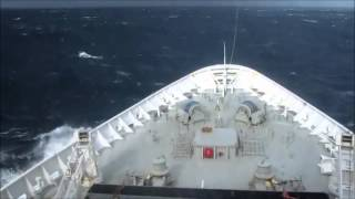 MASSIVE WAVE HITS CRUISE SHIP