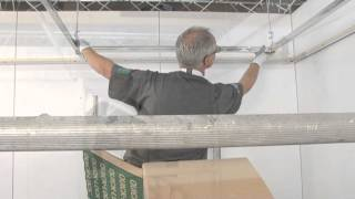 API Quick-Lock ceilings, plafonds montage, mounting visible, zichtbaar system