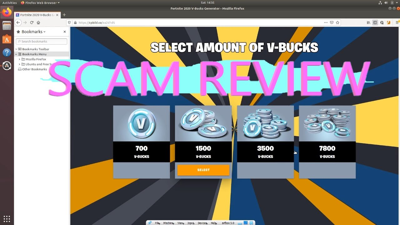SCAM REVIEW #1 yet another free vbucks scam - YouTube