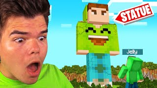 We Found A GIANT JELLY STATUE In MINECRAFT! (Hidden)