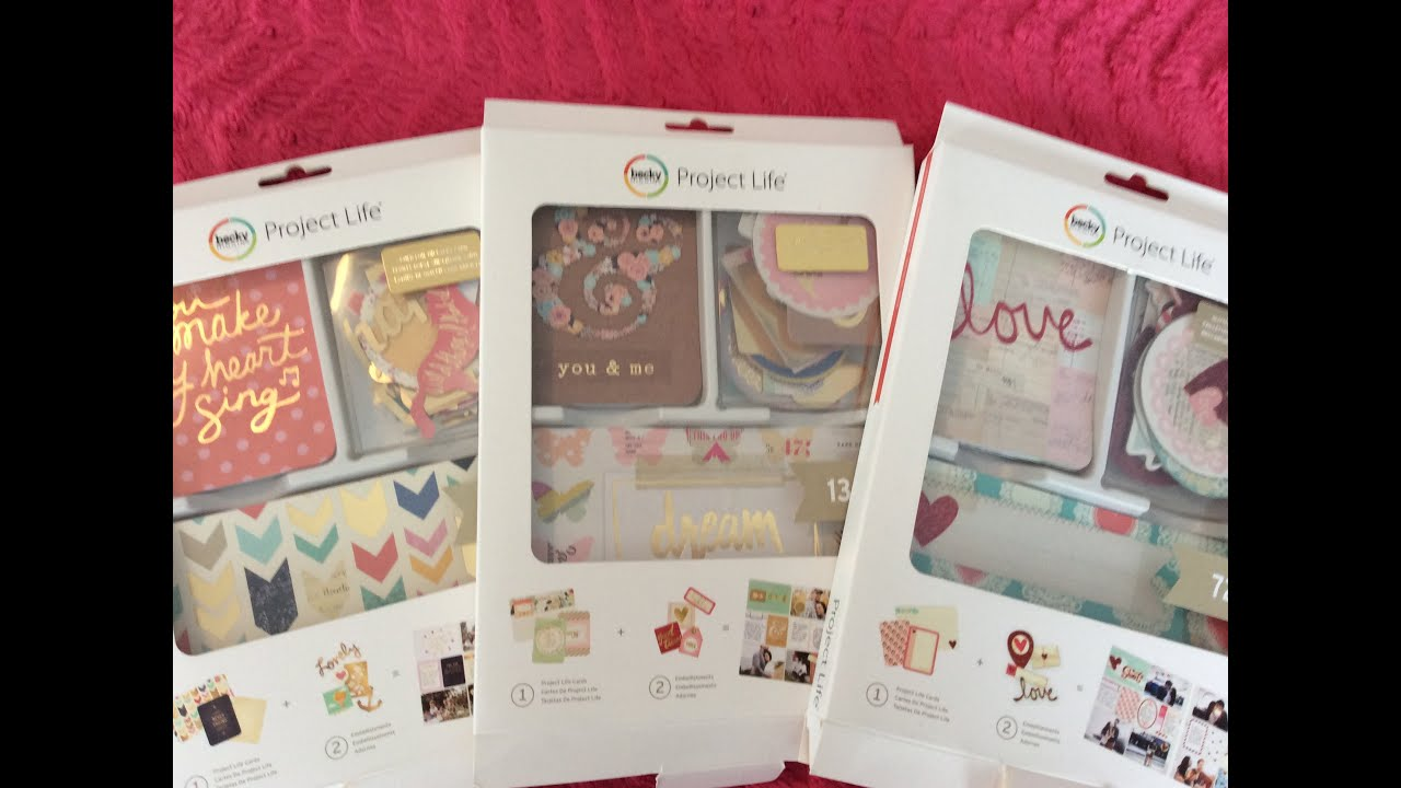 How to scrapbook with project life - New Becky Higgins Project Life Kit Flip Thrus Gold Glitter Editions