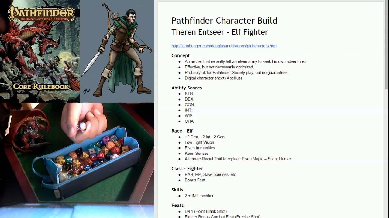 Roll 1Up - Part 1 of How to Create a 1st Level Character for Pathfinder RPG