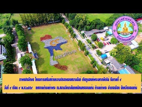 ภาพมุมสูงชาวตำบลท่าพระจ.ขอนแก่น พร้อมใจแปรอักษรแผนที่ประเทศไทย