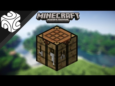 how to open crafting table in minecraft pocket edition