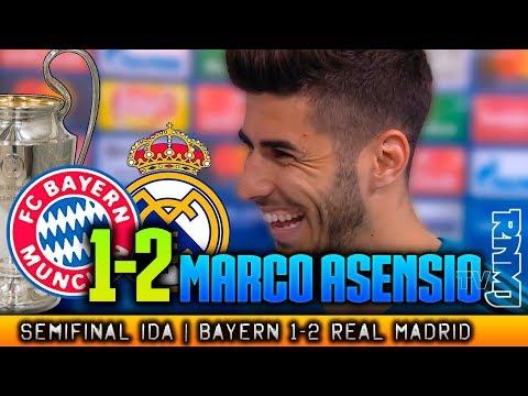 Bayern Munich 1-2 Real Madrid MARCO ASENSIO post Semifinal Champions (25/04/2018)