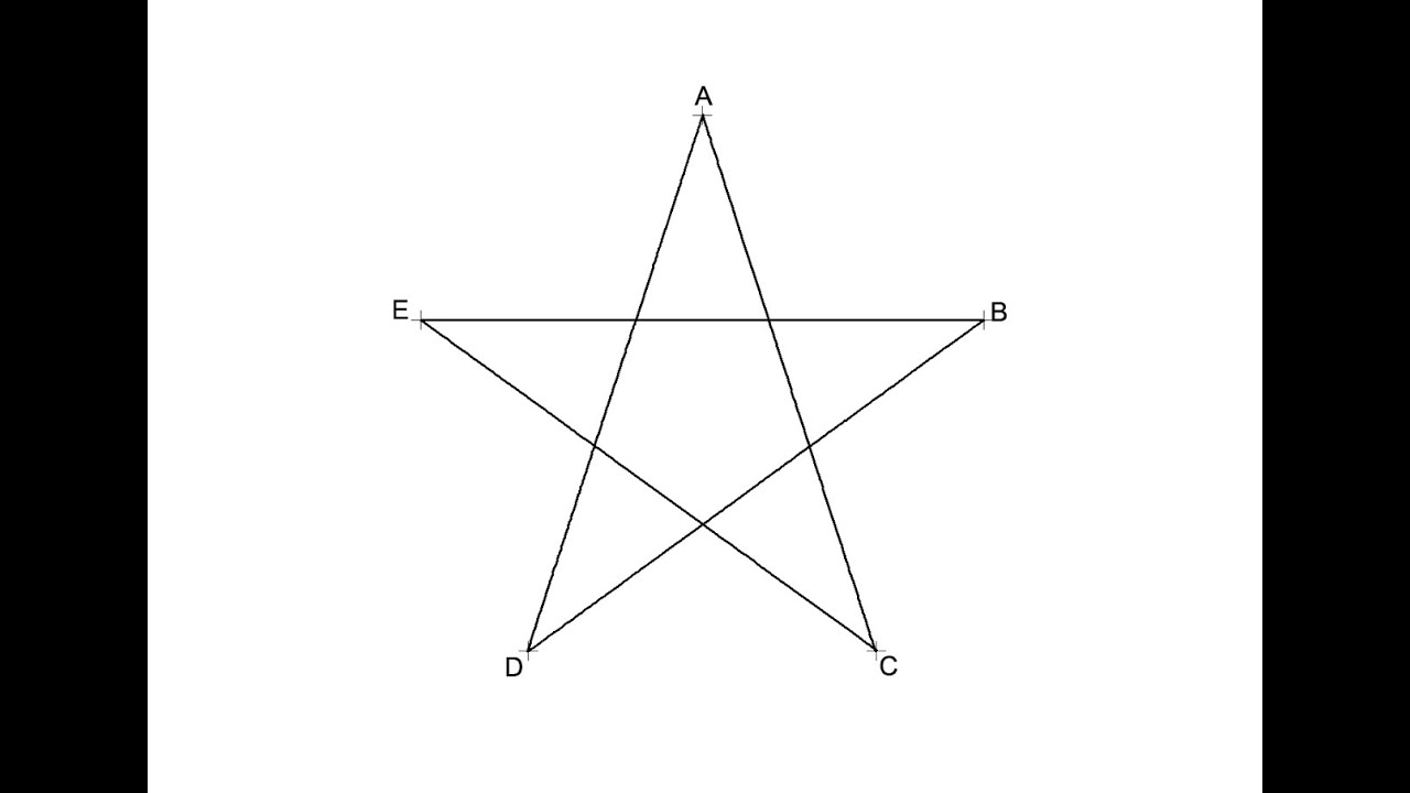 Pentágono estrellado - Estrella de 5 puntas - YouTube