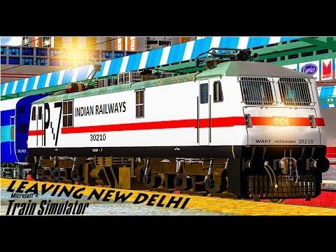 Express Train At New Delhi    GZB WAP7    MSTS Open Rails Journey