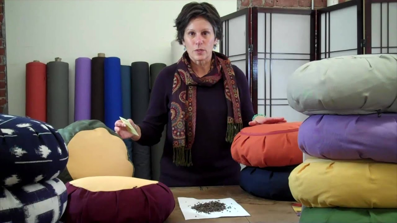 Dharmacrafts Buckwheat Zafu Meditation Cushion Youtube