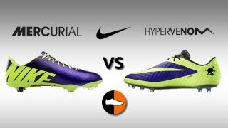 Mercurial vapor ix & hypervenom phantom compared - hi vis nike