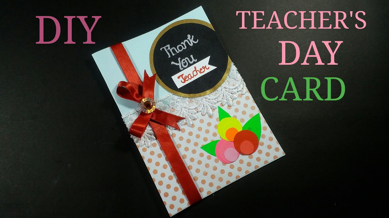 Diy Teacher S Day Greeting Card How To Make Creativity With Me