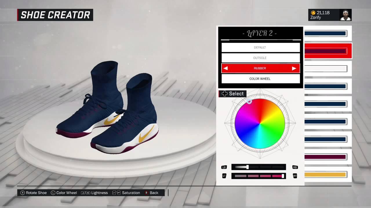 NBA 2K17 Shoe Creator - Nike Hyperdunk 2016 Custom