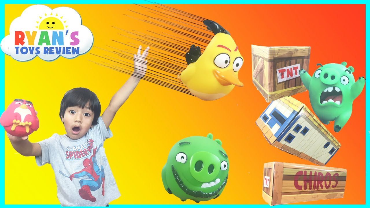 HUGE Angry Birds Vinyl Knockout Playset  with Giant Jenga Block