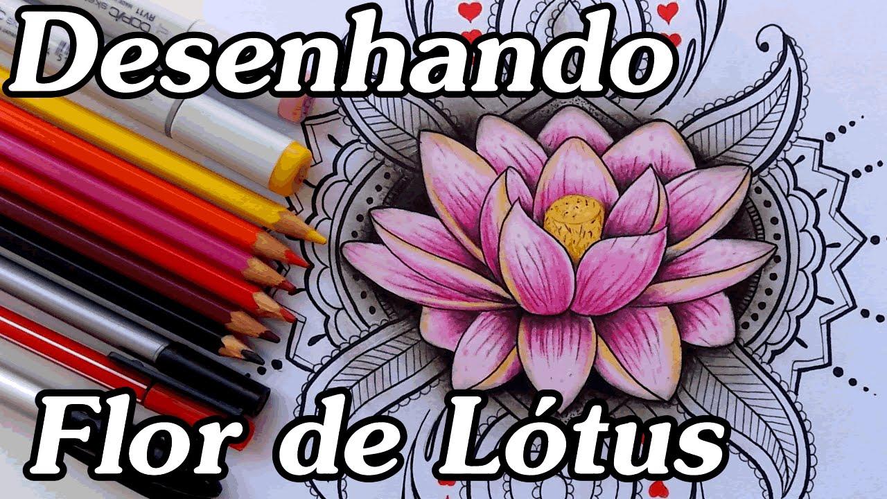 Desenho Flor De Lotus Youtube