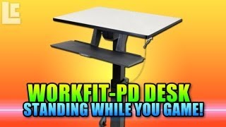 WorkFit-PD, Sit-Stand Desk Review (Game Standing Up)