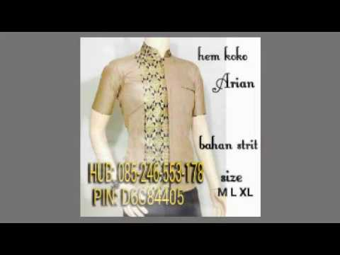 Batik Makassar Baju Muslim Makassar Baju Batik Makassar I 085