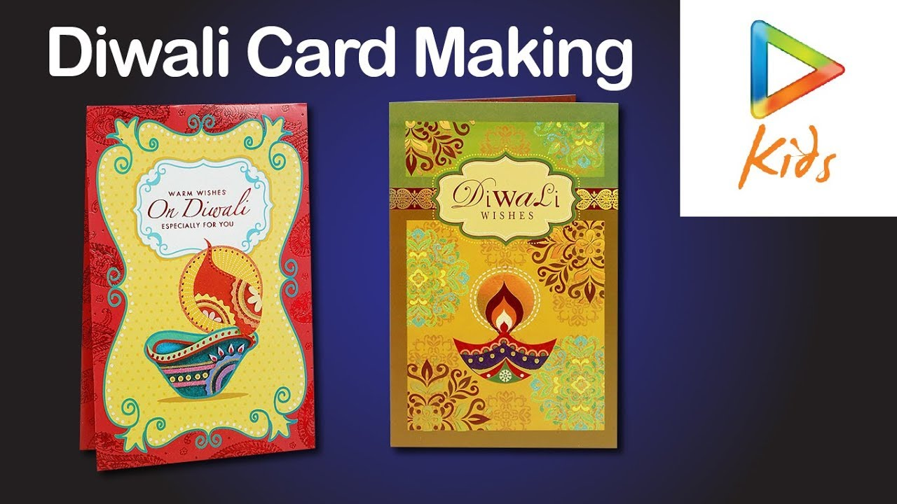 diwali greeting card making idea with paper for kids  diy