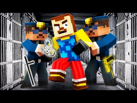 Minecraft - HELLO NEIGHBOR - NEIGHBOR GOES TO PRISON?